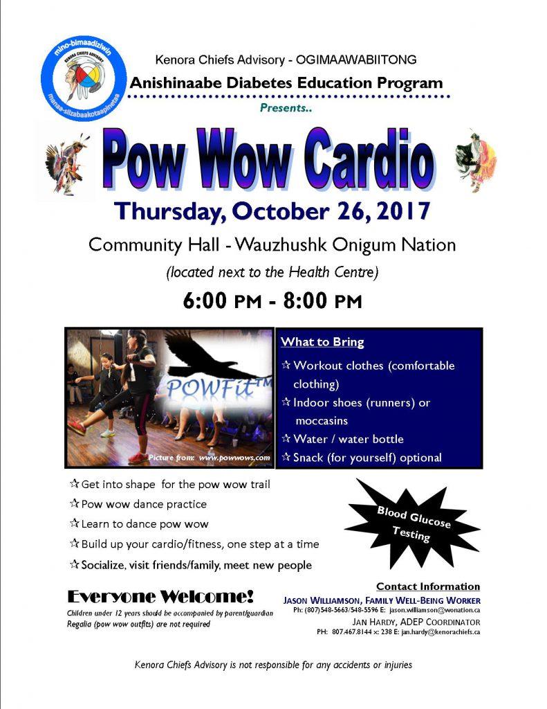 Pow Wow Cardio at Wauzhushk Onigum!