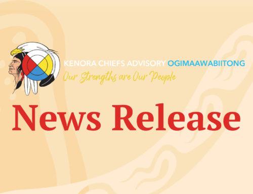 Kenora Chiefs Advisory Applauds Jays Care for 50/50 Initiative